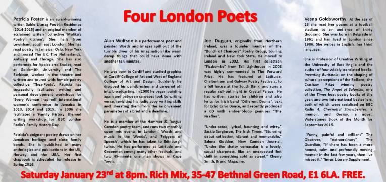 4 London poets reverse